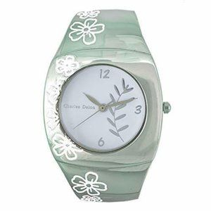 Charles Delon Casual Style Silver/Flowers Watch